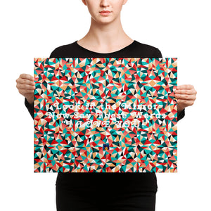 Hidden Words Kaleidoscope Canvas