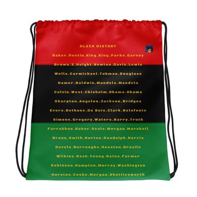 Black History Drawstring bag