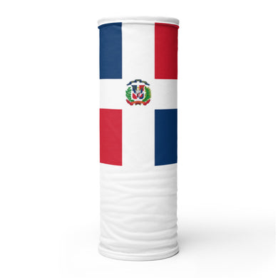 Dominican flag neck gaiter