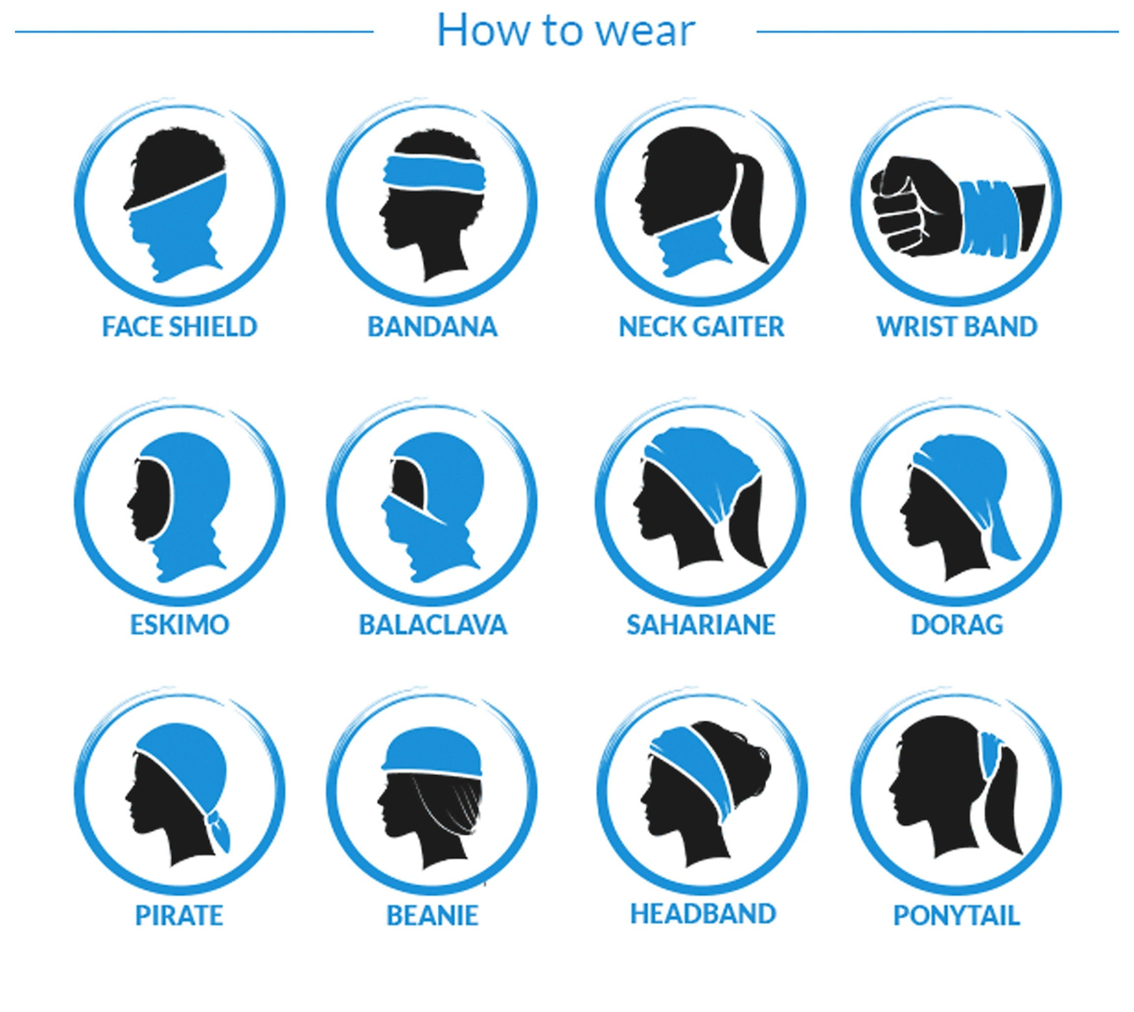 How To Wear Neck Gaiter Face Mask