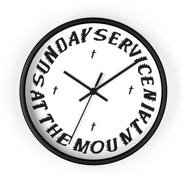 Sunday Service At The Mountain Wall clock - Kanye West Sunday Service Coachella-10 in-Black-Black-Archethype