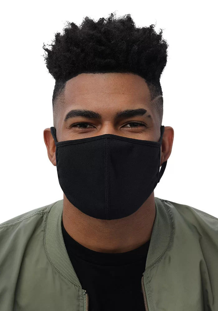 Plain Face Mask Black (3-Pack)-M-Archethype