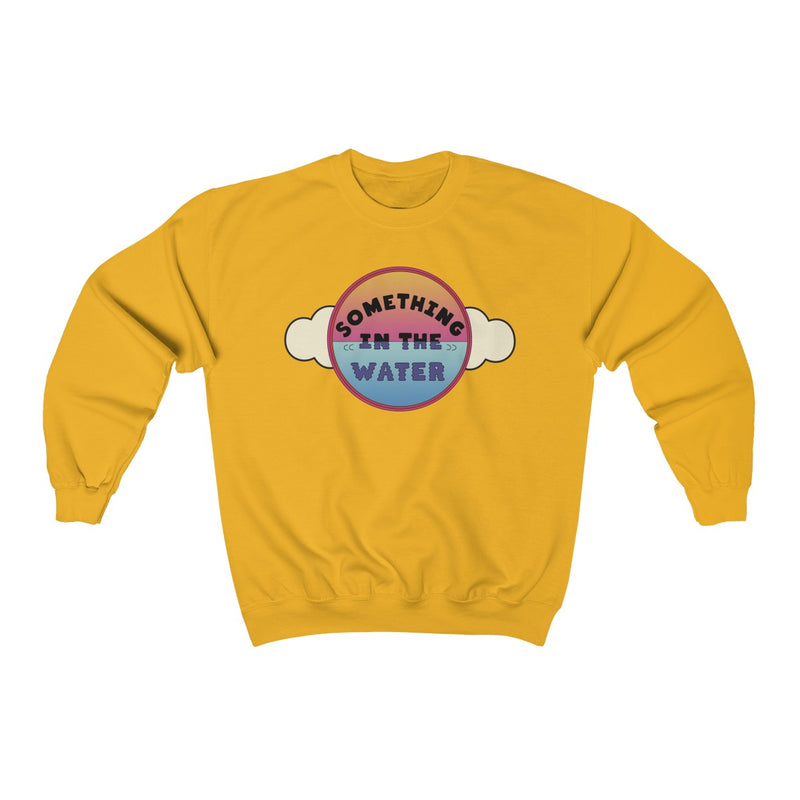 Something in the water Unisex Heavy Blend Crewneck Sweatshirt - Pharrell Williams festival merch inspired-Gold-S-Archethype