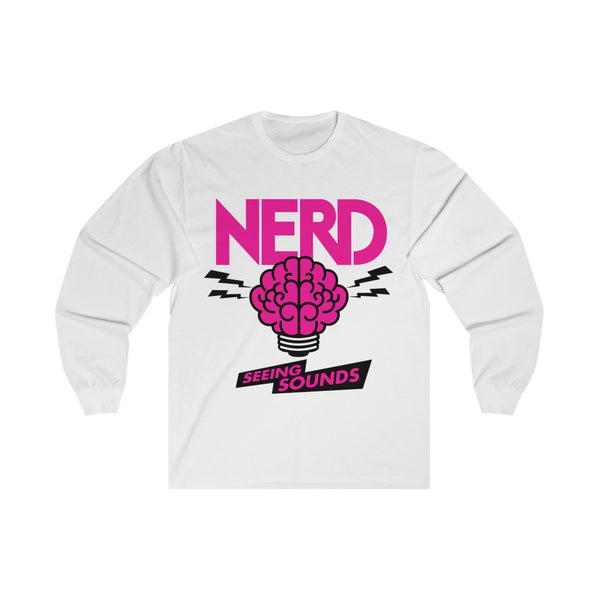 NERD Seeing Sounds Inspired Unisex Long Sleeve Tee T-Shirt - Pharrell Williams Chad Hugo Shay Haley N*E*R*D-White-L-Archethype