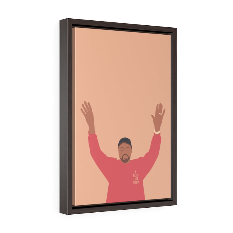 Kanye West I Feel Like Pablo Framed Premium Gallery Wrap Canvas - The Life of Pablo TLOP tour merch inspired-12″ × 18″-Premium Gallery Wraps (1.25″)-Walnut-Archethype