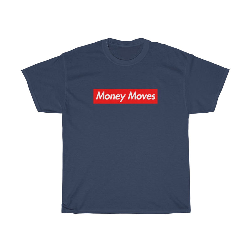 Money Moves Red Box Logo Tee-Navy-S-Archethype