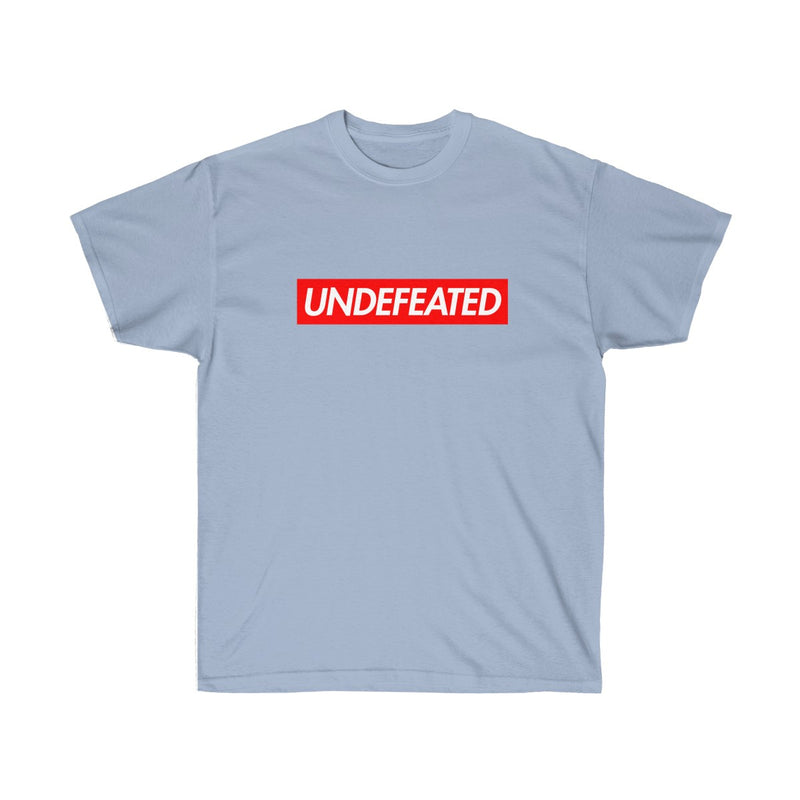 Undefeated Red Box Logo Tee-Light Blue-S-Archethype