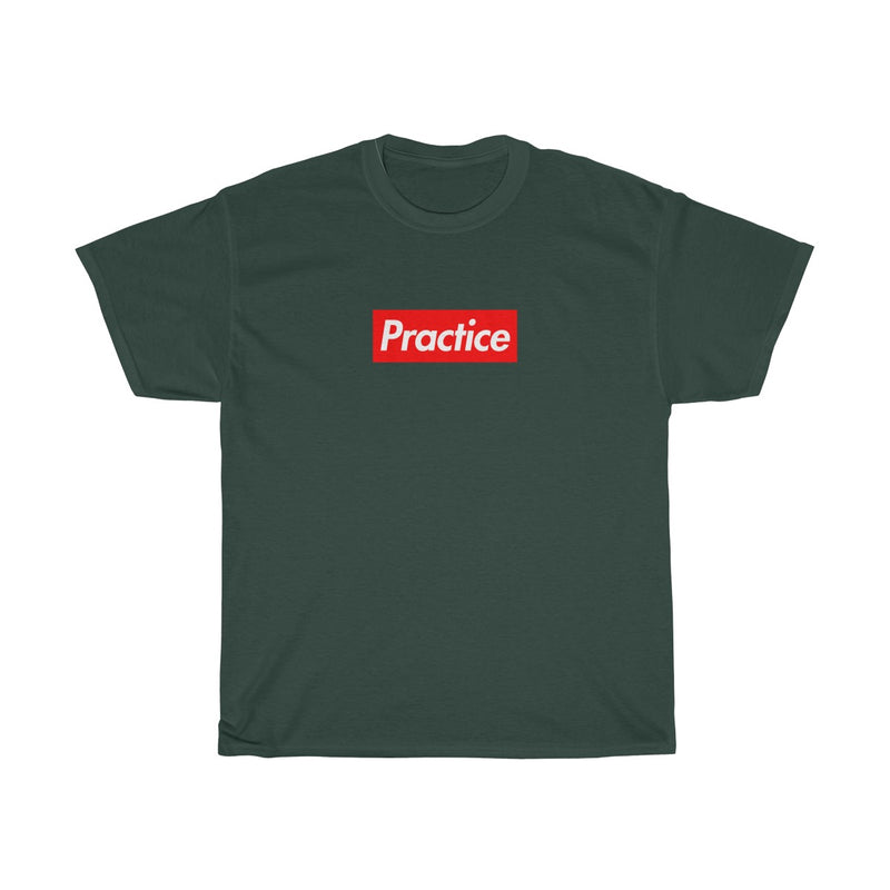 Practice Red Box Logo Tee-Forest Green-S-Archethype
