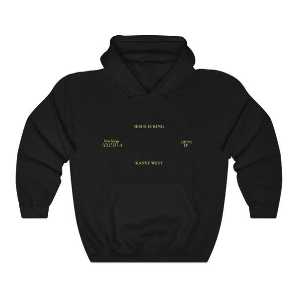 Jesus is King Hooded Sweatshirt - Kanye West Sunday Service Tour Merch Hoodie-S-Black-Archethype