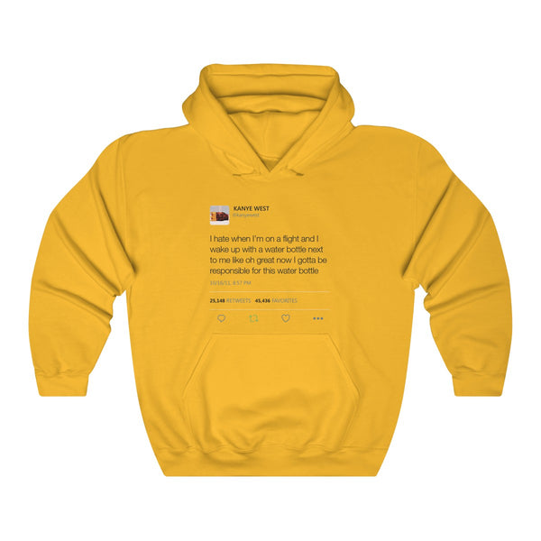 Water bottle tweet   Kanye West Hoodie-Gold-S-Archethype