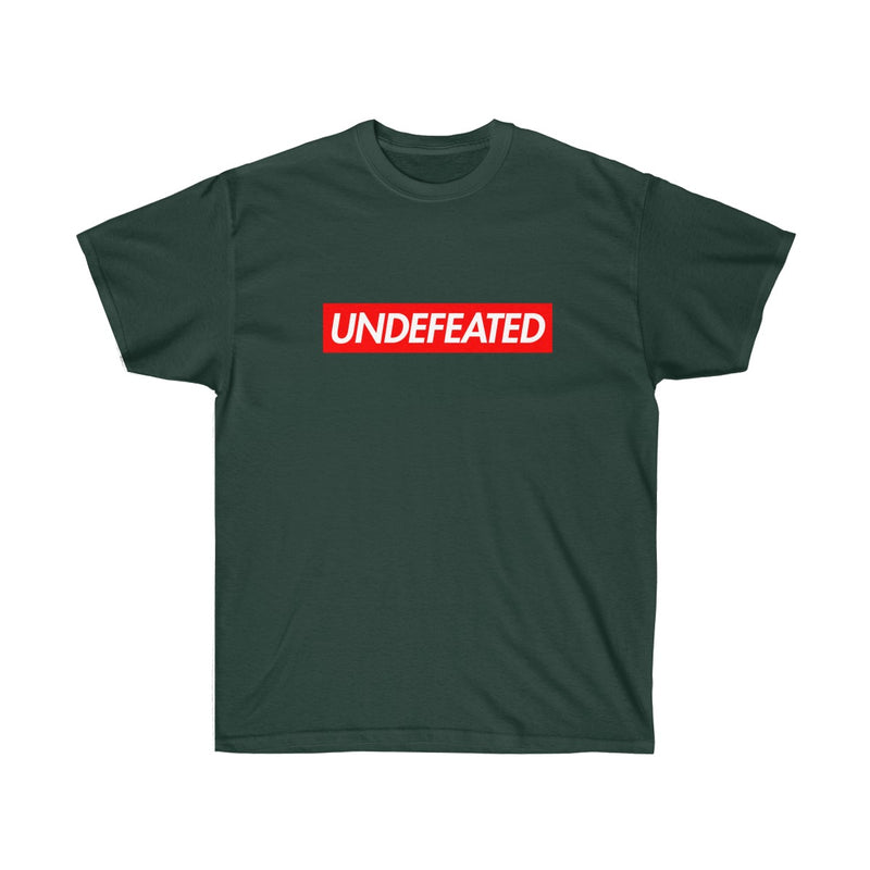 Undefeated Red Box Logo Tee-Forest Green-S-Archethype