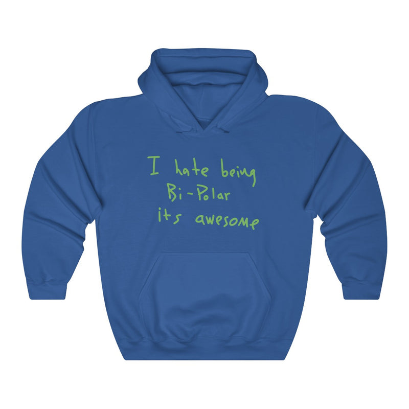 I hate being Bi-Polar it's awesome Kanye West inspired Heavy Blend™ Hoodie-Royal-S-Archethype