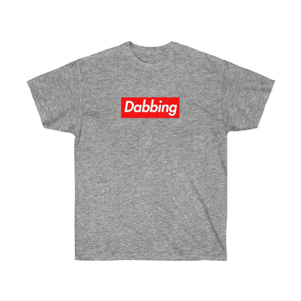 Dabbing Red Box Logo Tee - To Dab All Day-Sport Grey-L-Archethype
