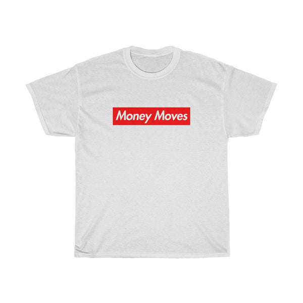 Money Moves Red Box Logo Tee-White-S-Archethype