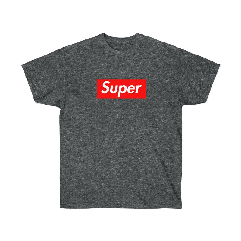 Super Red Box Logo Tee-Dark Heather-S-Archethype