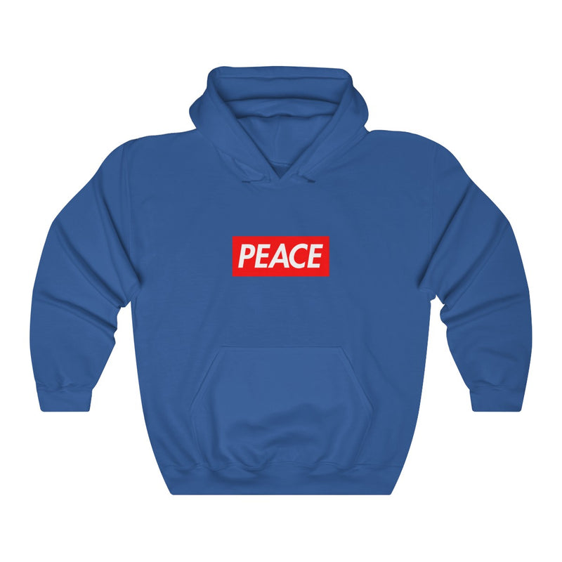 Peace Red Box Logo Heavy Blend™ Hoodie-Royal-S-Archethype