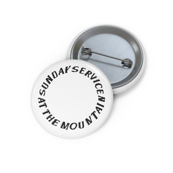 Sunday Service at the Mountain Kanye West inspired Pin Buttons-Archethype