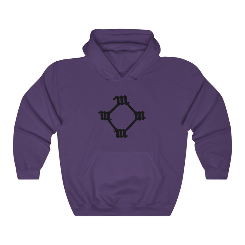 Four M Kanye West Tattoo Hoodie-S-Purple-Archethype