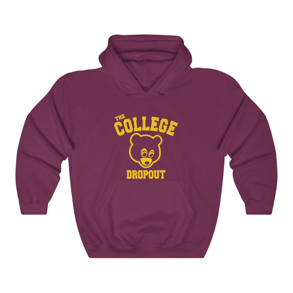 The College Dropout Unisex Hoodie - Old Kanye West Inspired - The late registration-L-Maroon-Archethype