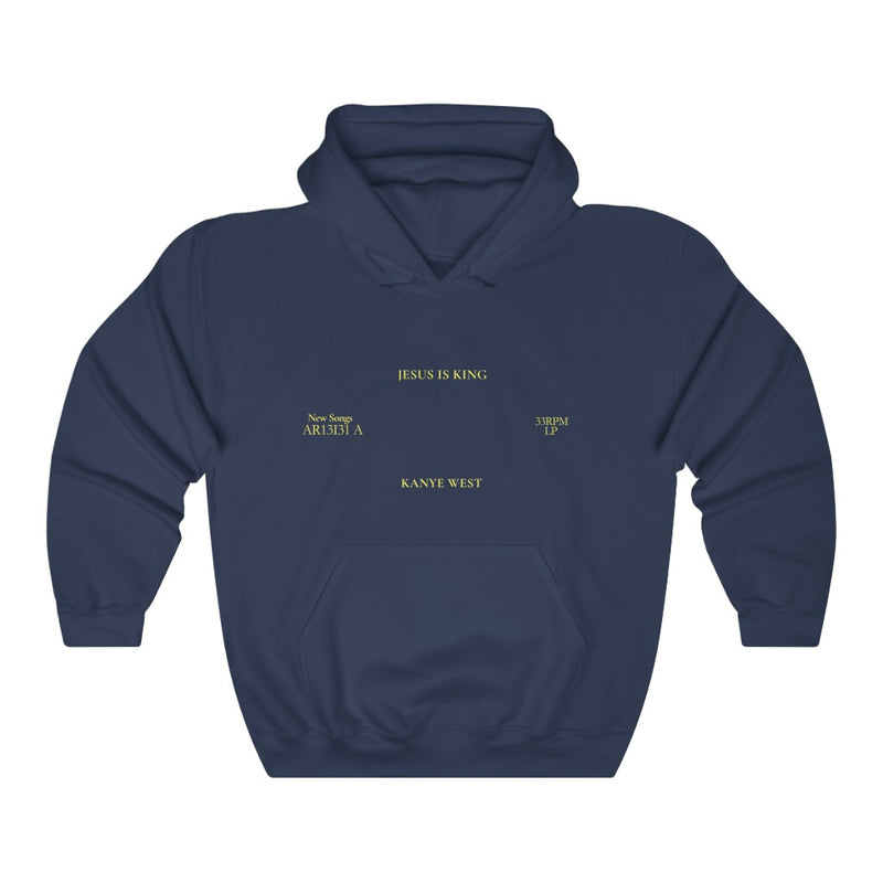 Jesus is King Hooded Sweatshirt - Kanye West Sunday Service Tour Merch Hoodie-L-Navy-Archethype
