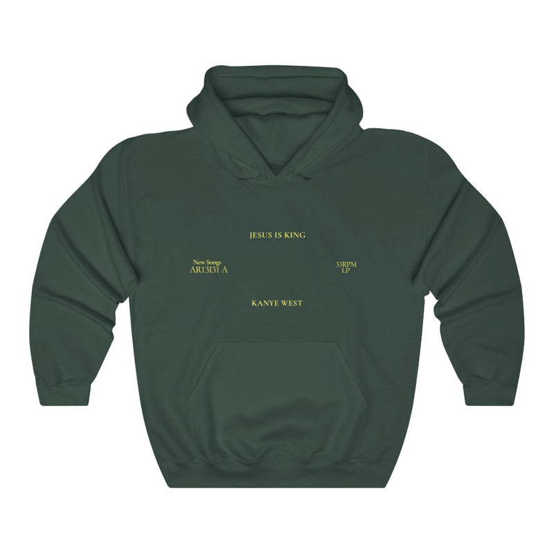 Jesus is King Hooded Sweatshirt - Kanye West Sunday Service Tour Merch Hoodie-S-Forest Green-Archethype