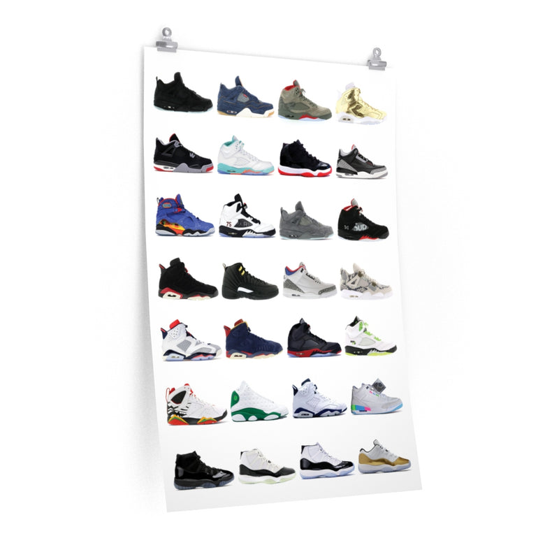 Nike Air Jordans Hall of Fame Poster - Michael Jordan Wall Art-24″ × 36″-Archethype