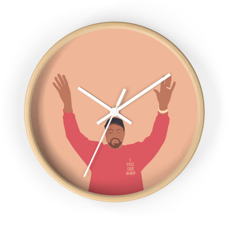 Kanye West I Feel Like Pablo Wall clock - The Life of Pablo TLOP tour merch inspired-10 in-Wooden-White-Archethype