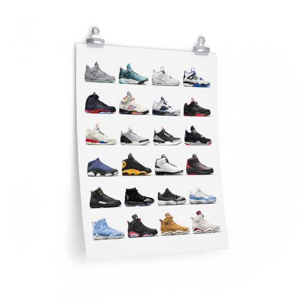 Nike Air Jordans Hall of Fame Poster - Michael Jordan Wall Art-Archethype