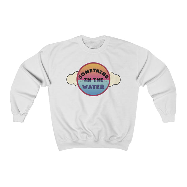 Something in the water Unisex Heavy Blend Crewneck Sweatshirt - Pharrell Williams festival merch inspired-White-S-Archethype
