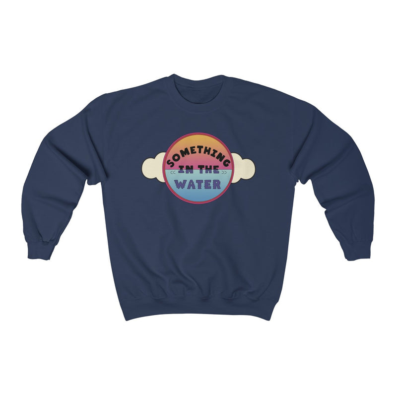 Something in the water Unisex Heavy Blend Crewneck Sweatshirt - Pharrell Williams festival merch inspired-Navy-S-Archethype