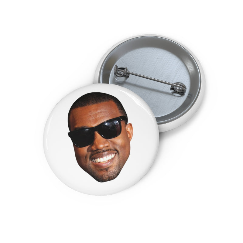 Kanye West Meme Face Funny face Pin Buttons-Archethype