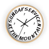 Sunday Service At The Mountain Wall clock - Kanye West Sunday Service Coachella-10 in-Wooden-Black-Archethype