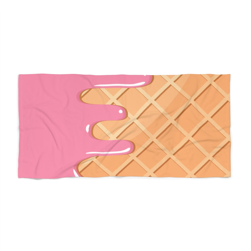 Waffle and Ice Cream Beach Towel-36x72-Archethype