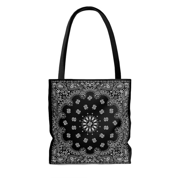 Black Bandana Tote Bag - YSL Saint Laurent inspired-Archethype