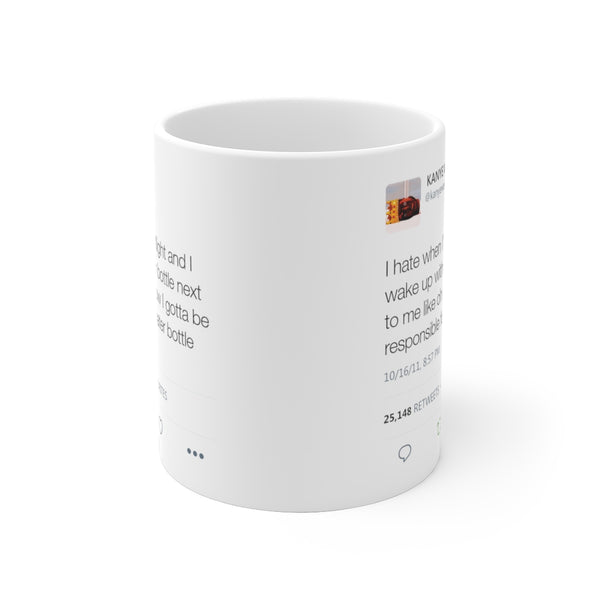 Kanye West Water Bottle Tweet Mug-Archethype