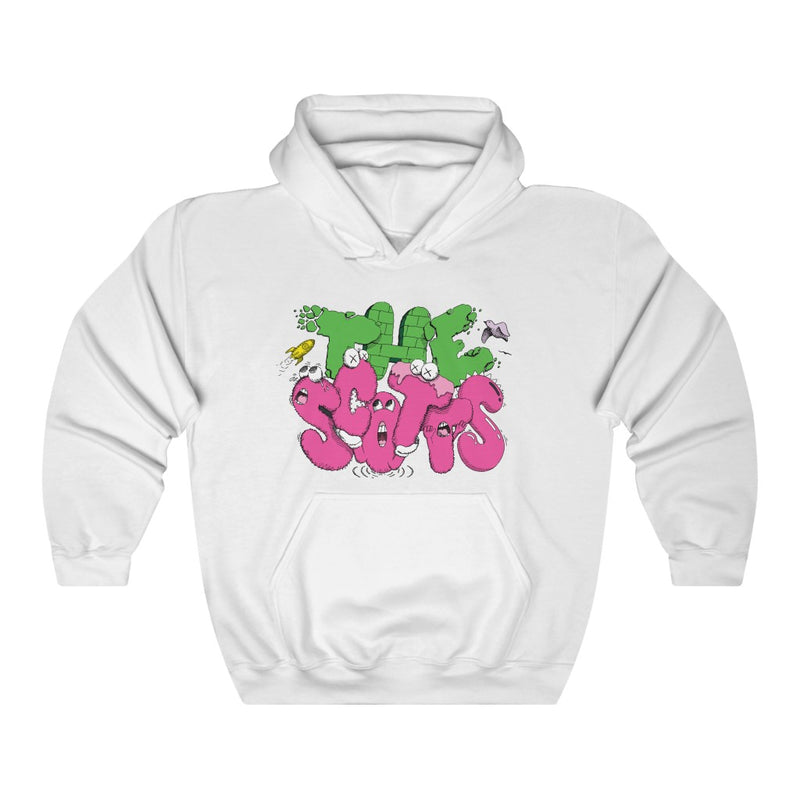 The Scotts Graffiti Kid Cudi Hoodie Merch Inspired Unisex Hooded Sweatshirt-White-S-Archethype
