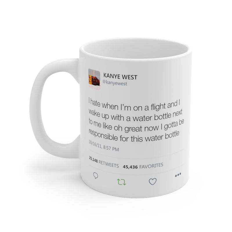Kanye West Water Bottle Tweet Mug-11oz-Archethype