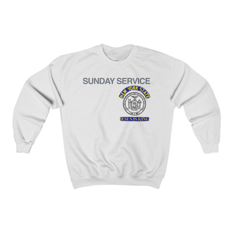 Jesus is King New York Seal Inspired Unisex Ultra Cotton Crewneck - Kanye West Sunday Service Tour Merch-White-L-Archethype