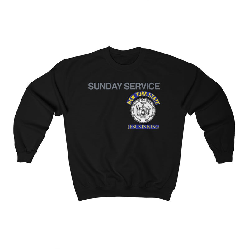 Jesus is King New York Seal Inspired Unisex Ultra Cotton Crewneck - Kanye West Sunday Service Tour Merch-Black-S-Archethype