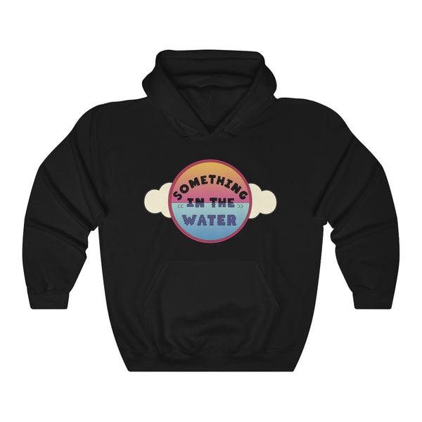 Something in the water Unisex Heavy Blend Hooded Sweatshirt - Pharrell Williams festival merch inspired-Black-S-Archethype