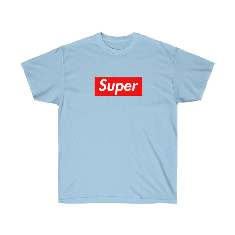Super Red Box Logo Tee-Light Blue-S-Archethype