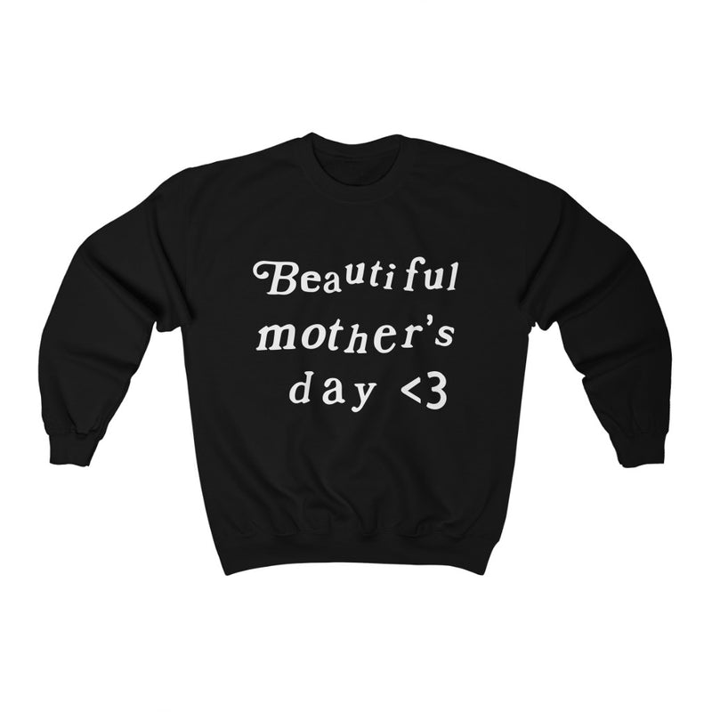 Mother's Day Kanye West Kids See Ghosts Inspired Crewneck Sweatshirt Merch-Black-S-Archethype