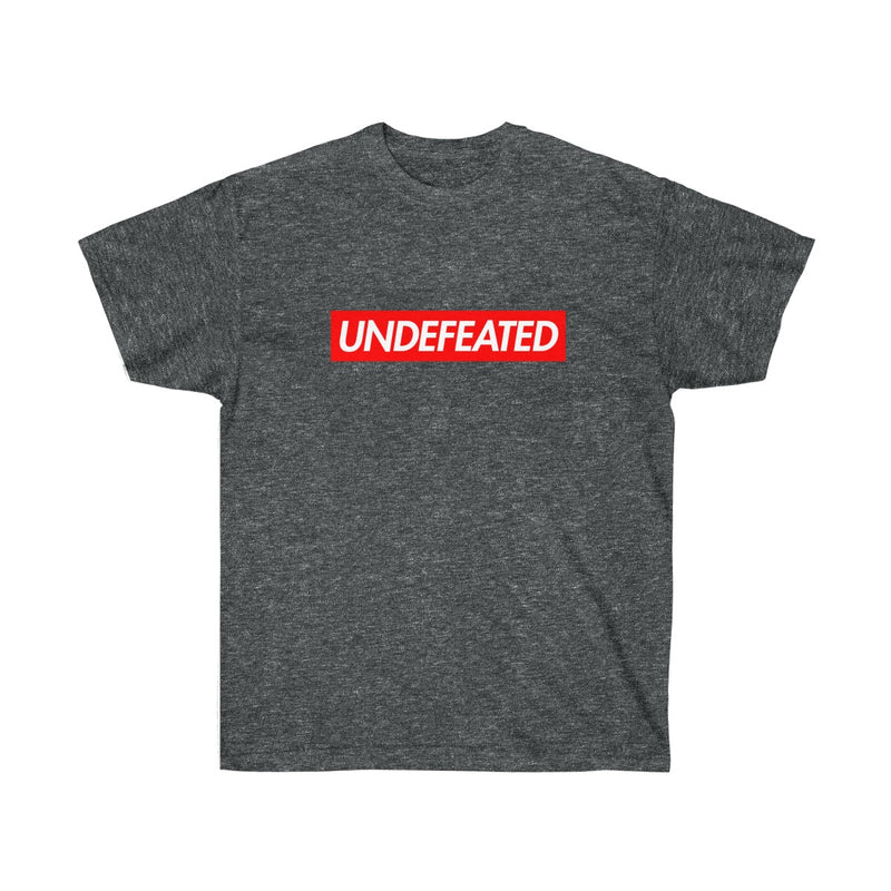 Undefeated Red Box Logo Tee-Dark Heather-S-Archethype