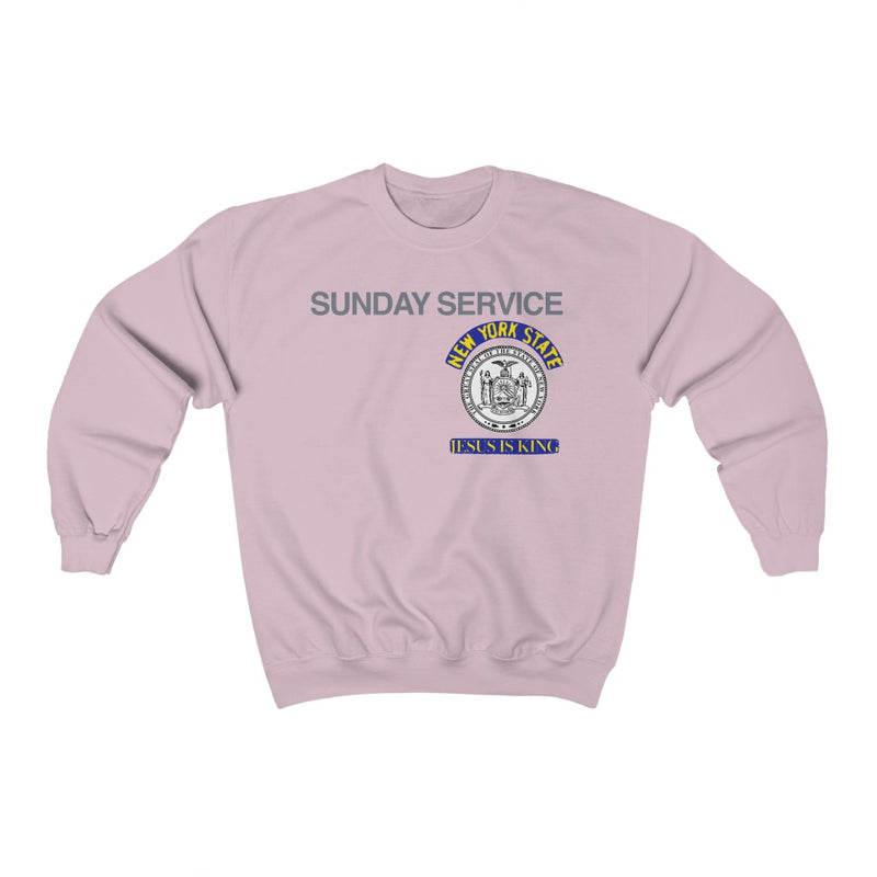 Jesus is King New York Seal Inspired Unisex Ultra Cotton Crewneck - Kanye West Sunday Service Tour Merch-Light Pink-S-Archethype