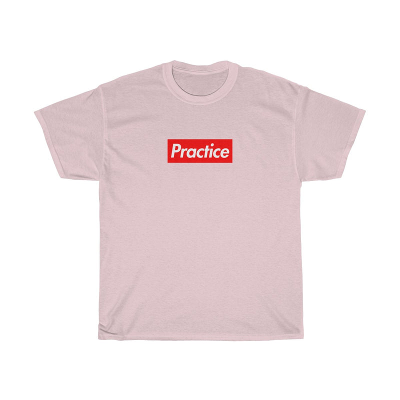 Practice Red Box Logo Tee-Light Pink-L-Archethype