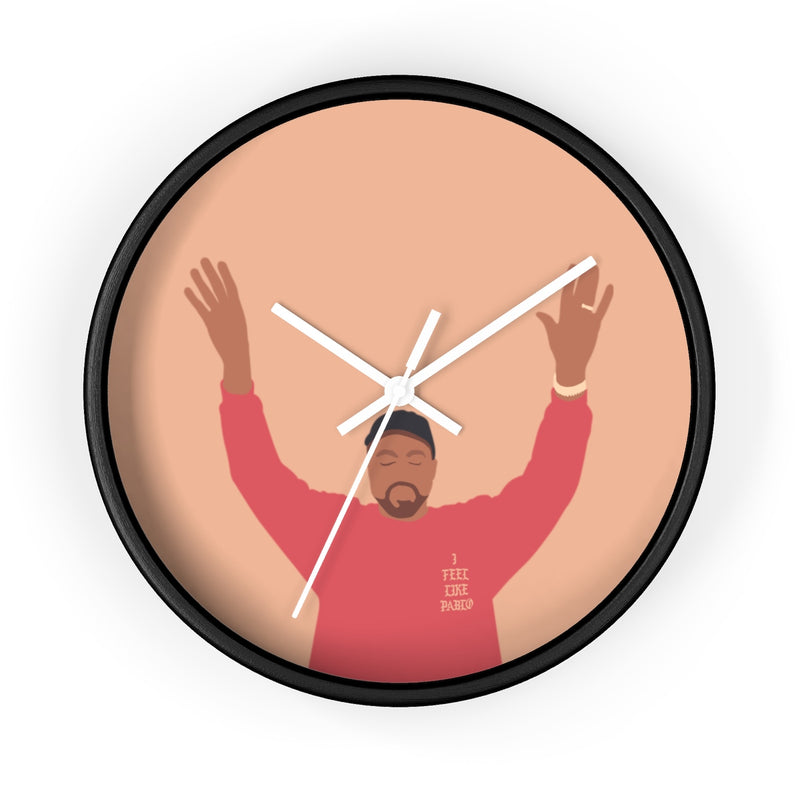 Kanye West I Feel Like Pablo Wall clock - The Life of Pablo TLOP tour merch inspired-10 in-Black-White-Archethype