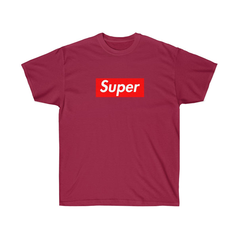 Super Red Box Logo Tee-Cardinal Red-S-Archethype