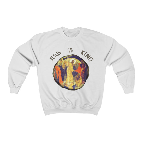 Jesus is King Unisex Heavy Blend Crewneck Sweatshirt - Kanye West Sunday Service Inspired-White-L-Archethype