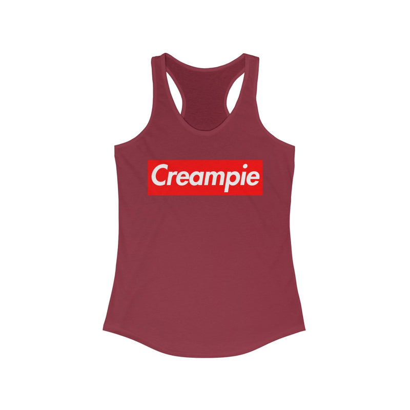 Creampie Red Box Logo Women's Ideal Racerback Tank-Solid Scarlet-XS-Archethype