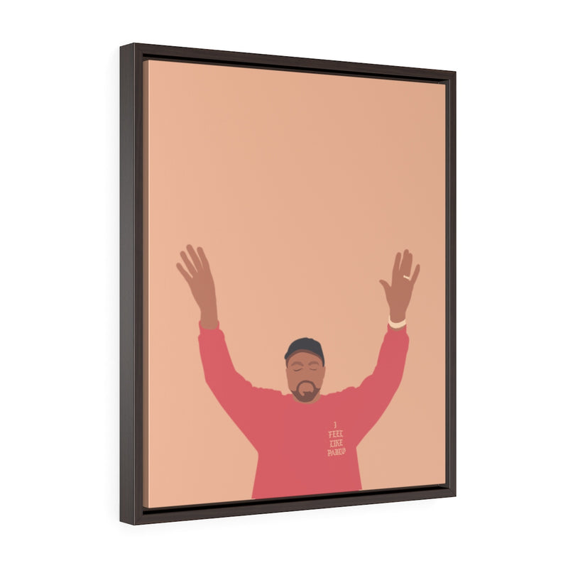 Kanye West I Feel Like Pablo Framed Premium Gallery Wrap Canvas - The Life of Pablo TLOP tour merch inspired-20″ × 24″-Premium Gallery Wraps (1.25″)-Walnut-Archethype